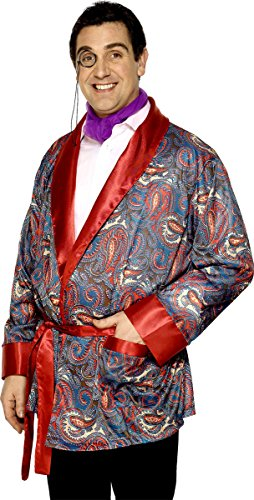 Herren Edwardianisch Smoking-jacke Hugh Hefner Paisleymuster Junggesellenabschied Kostüm Kleid Outfit Einheitsgröße