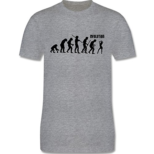 Evolution - Tanz Evolution - Herren Premium T-Shirt Grau Meliert