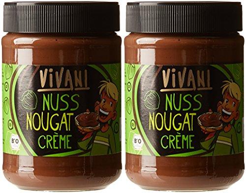 Vivani Pâte à Tartiner à la Noisette et au Nougat Bio 400 g - Lot de 2