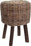 habeig Hocker Polsterhocker Sessel Stuhl Holz Barhocker Barstuhl Bistrostuhl Sitzbank (Rattan)