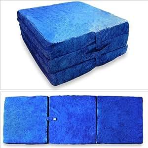 matelas pliable matelas d 39 appoint bleu 195 x 65 x 8. Black Bedroom Furniture Sets. Home Design Ideas