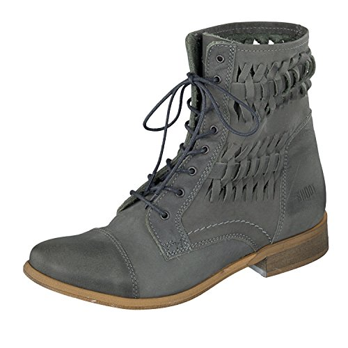 Shoot Damen Schn眉rstiefel Anthrazit