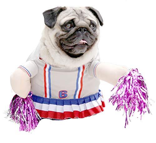 Glamour Girlz Lustiges Kostüm für Hunde und Katzen, Cheerleader Cheerleader-fleece