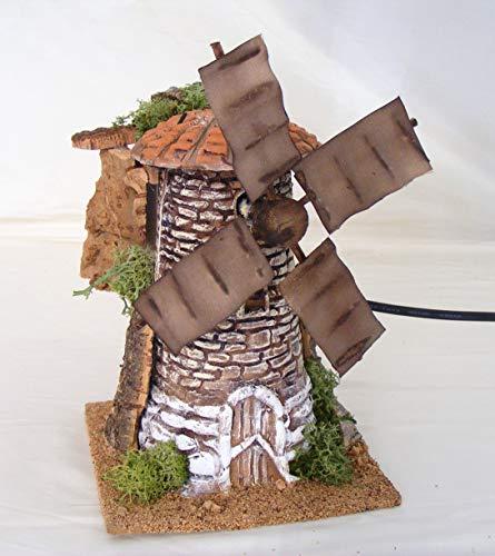 De sisinno mulino a vento in movimento per presepe - in terracotta - dim h18x13x13 cm