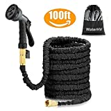 Best Hose 100 Feet Extra Durables - WaterHV Black 100ft Stronger Double Latex Expandable Solid Review