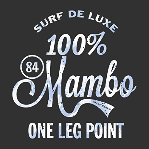Mambo One Hundred Percent Surf Deluxe Blue Women's T-Shirt Charcoal