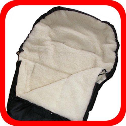 Baby Universal Fußsack, 100% Lammwolle, schwarz -