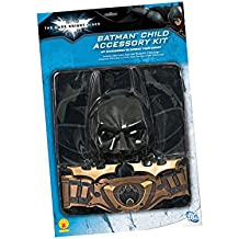 Kit Batman bambino: include mantello, copritorace con stampa, cintura, maschera e 2 (One Way Kit)