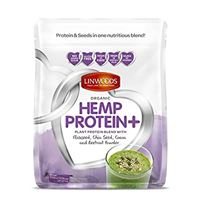 Linwoods Organic Hemp Protein+ with Flaxseed, Chia Seed, Cocoa and Beetroot Powder by Linwoods