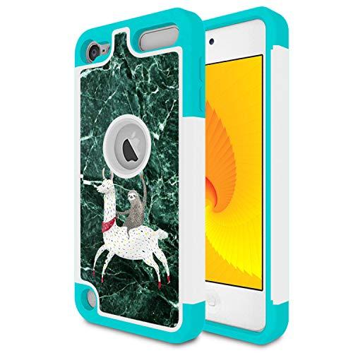 Schutzhülle für iPod Touch 5, iPod Touch 6, Skyfree, stoßfest, strapazierfähig, Harter PC & weiches TPU, Hybrid-Schutzhülle für Apple iPod Touch 5/6. Gen, niedliches Faultier Marmor -