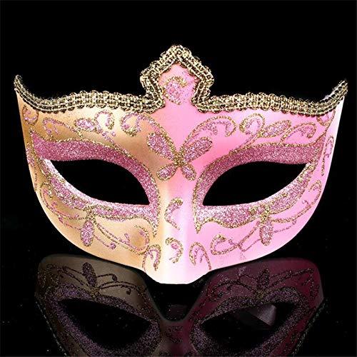 Wuxi Chuannan Halloween Party Halbmaske Venezianische Maske, Kostüm, Party, Rose, 6.7 * 4.3inch