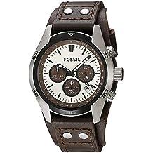 Fossil correa de reloj CH-2565 Piel Marrón oscuro 22mm(Sólo reloj correa -