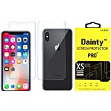 Dainty Tempered Glass Screen Guard for Apple Iphone X (5.8 inch, Front and Back)