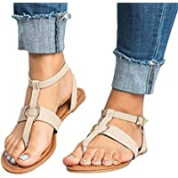 UOMOGO Sandali da Donna con Pietre Decorative - Sandali Estivi Aperti con  Cinturino Leggero e Tacco 616d01a001e