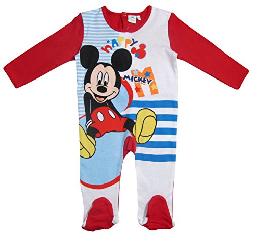 Mickey Mouse Kollektion 2017 Strampelanzug 56 62 68 74 80 86 92 Strampler Einteiler Maus Disney Rot (56 - 62, Rot)