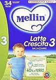 Mellin Latte Crescita 3 Polvere - 3 Confezioni x 1200 gr