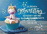 Süße Glückwunschkarte zum Geburtstag ~ Einhorn & Muffin ~ mit Glitzerlack