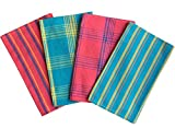 #8: Lushomes Cotton Multi Color Waffle Kitchen Towels (Pack of 4)