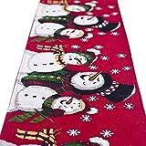 Moonuy Weihnachtsmatte Günstige Mode Weihnachten Leinen Tischläufer Abdeckung Hessischen Jute Snow Deer Print Dinner Party Dekoration 180X35 cm