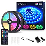 Striscia LED RGB 12M, Novostella 360 LED 5050 Luci LED Colorate 24V, LED Strip Dimmerabile con RF Telecomando di 44 Tasti, Luce Decorazione Interna, Domestica, Cucina, Bar, Feste