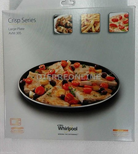 Plat Crisp, diamètre de 30,5cm, 32cm, pour micro-onde Whirlpool AVM 305Original 48013100085