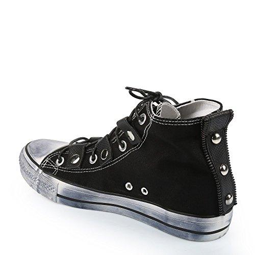 Ideal Shoes Basket Alte uomini effetto slavato Daniel, Bianco (bianco), 44