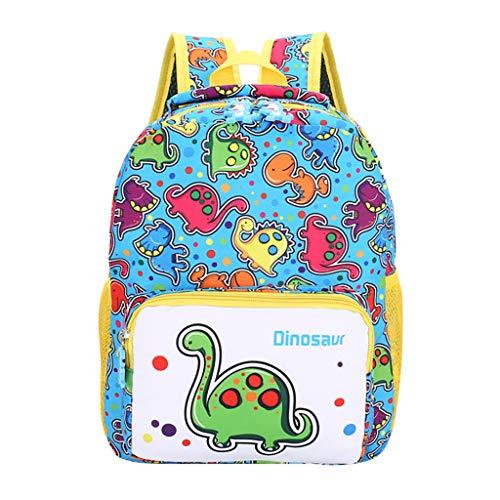 Ledertasche, Schultertasche, Geschenk, Handgefertigte Tasche,Student Jungen & Mädchen Kinder Cartoon Dinosaurier Tier Rucksack Kleinkind Schultasche ()