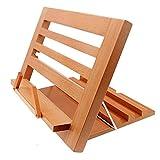 Halovie Buchhalter Leseständer Buchständer Kochbuchhalter IPads Tablet Standhalter aus Holz 34.3*23.8*2cm