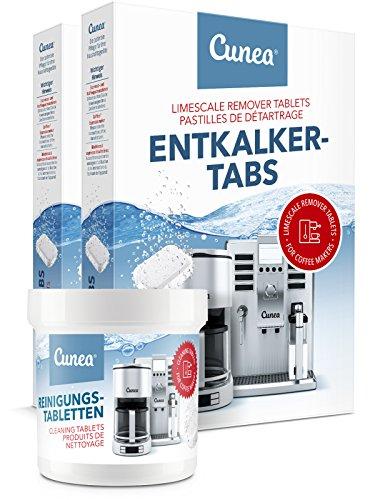 Micro Miele (Cunea Reinigungset 40x Entkalkungstabletten & 50x Reinigungstabletten für Kaffeevollautomaten Kaffeemaschinen)
