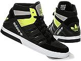 Adidas Männer Trainings Schuhe Hartplatz Block Q34292 - Schwarz / Weiß / Neongelb, Kunststoff, 40