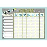 Childrens Kids Rota Reward Task Chore Chart Blue And Grey