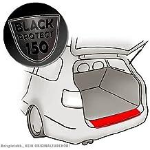 Apto para Nissan NV200/Evalia–Negro 150µm–Ajuste barniz protector de pantalla ladekant Protección para borde de carga en Negro Mate (Black) 150µm