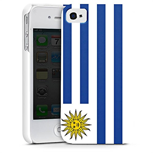 Apple iPhone X Silikon Hülle Case Schutzhülle Uruguay Flagge Fußball Premium Case glänzend