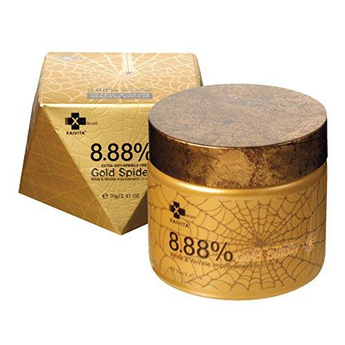 Xaivita - Gold Spider Anti Falten Creme - Extra Anti Wrinkle Cream mit 8,88 % Goldspinnen Extrakt für Männer und Frauen - Spinnennetz Spinnengift Creme - Für trockene / fettige / normale Haut / Mischhaut - Tagespfleg - Tagescreme - Gesichtspflege - Lifting Gesicht