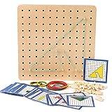 Winthai Montessori bebé Juguete Creativo gráficos de Goma Corbata Placas de uñas...