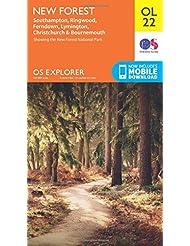 OS Explorer OL22 New Forest, Southampton, Ringwood, Ferndown, Lymington, Christchurch and Bournemouth (OS Explorer Map)