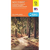 OS Explorer OL22 New Forest, Southampton, Ringwood, Ferndown, Lymington, Christchurch and Bournemouth (OS Explorer Map)