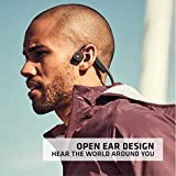 Aftershokz Trekz Titanium, Auriculares deportivas con Conducción Osea, Bluetooth 4.1 Inalámbricos, Reducción de Ruido Micrófono para Movil, Gris (Grey)