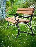 GOLD GARDEN Gartenbank mit Armlehnen TOSKANA Massivholz auf Aluminiumrahmen teak in 2 Größen (180 cm - 4-Sitzer)