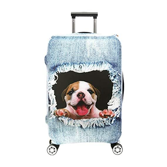 Generic Luggage Cover Protective 3D Suitcase Protector Covers with Zipper for Travel Suitcase Tb Sale : S