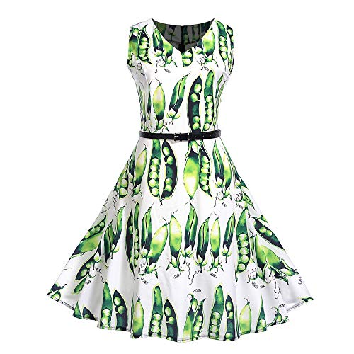 MRULIC Prinzessin Abendkleid Vintage Kleid Cocktailkleider (EU-42-44/CN-2XL, M-Mehrfarbig)
