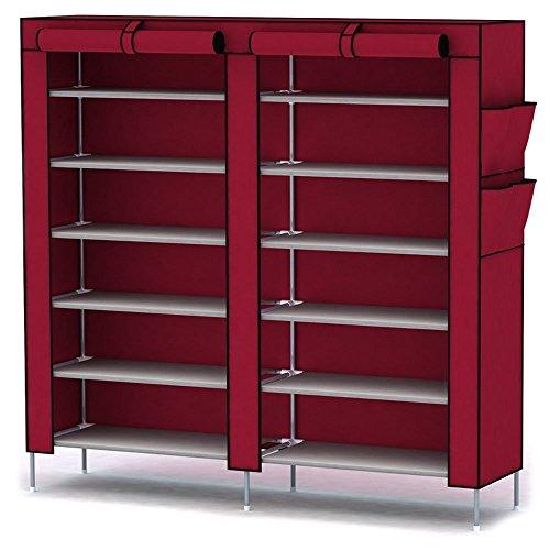 katomi-12-livelli-con-copertura-antipolvere-armadio-armadietto-organizer-colore-rosso-vino