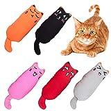 Totofy Catnip Juguetes/para Gato/Gatito/Gatito Pescado Flop Cat Catnip/Cat Toy,5 Unidades de Almohada Creativa para arañar a la Gata