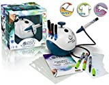 Orbis Airbrush Power Studio, Kinder Airbrush-Set mit Kompressor, Airbrush ganz einfach, für Papier, coole Tattoos für die Haut, Farben für verschiedene Untergründe, einfacher Farbwechsel ohne Reinigung - 30010 -