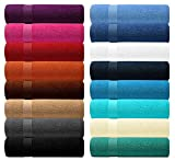 Lashuma Handtuch - BlueC Premier Line - in 16 Farben zur Auswahl, Farbe: Lila - Aubergine, Duschtuch 70x130 cm