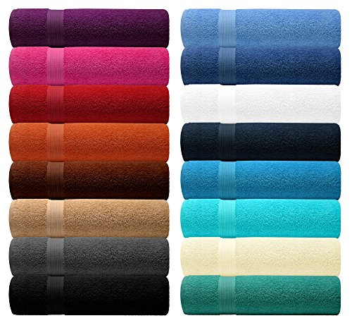 Lashuma® Handtuch Set - BlueC Premier Line - in 16 Farben zur Auswahl, Farbe: Türkis - Turquoise, 6er Set Seiftuch 30x30 cm