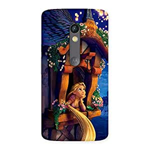 Impressive Angel Thinking Multicolor Back Case Cover for Moto X Play