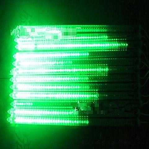 220V 30CM Meteor tubi doccia a pioggia LED per il Natale Wedding Garden Decor (verde)