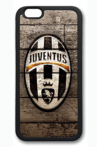 iPhone 6 Case - Soft Flexible Extremely Thin Black Case for iPhone 6 Juventus Logo Soft Rubber Skin Scratch-Proof Case for iPhone 6 4.7 Inches