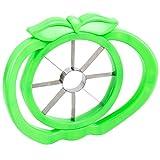 Apfel-Schneider [ Apfel-Ausstecher / Apfelteiler ] mit ergonomischem Griff   Edelstahl   Küchenhelfer in grün   MOVOJA®